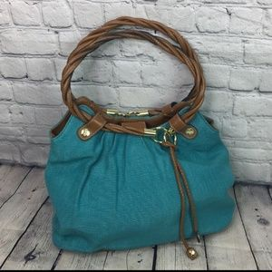 Relic teal green rope handle purse hobo